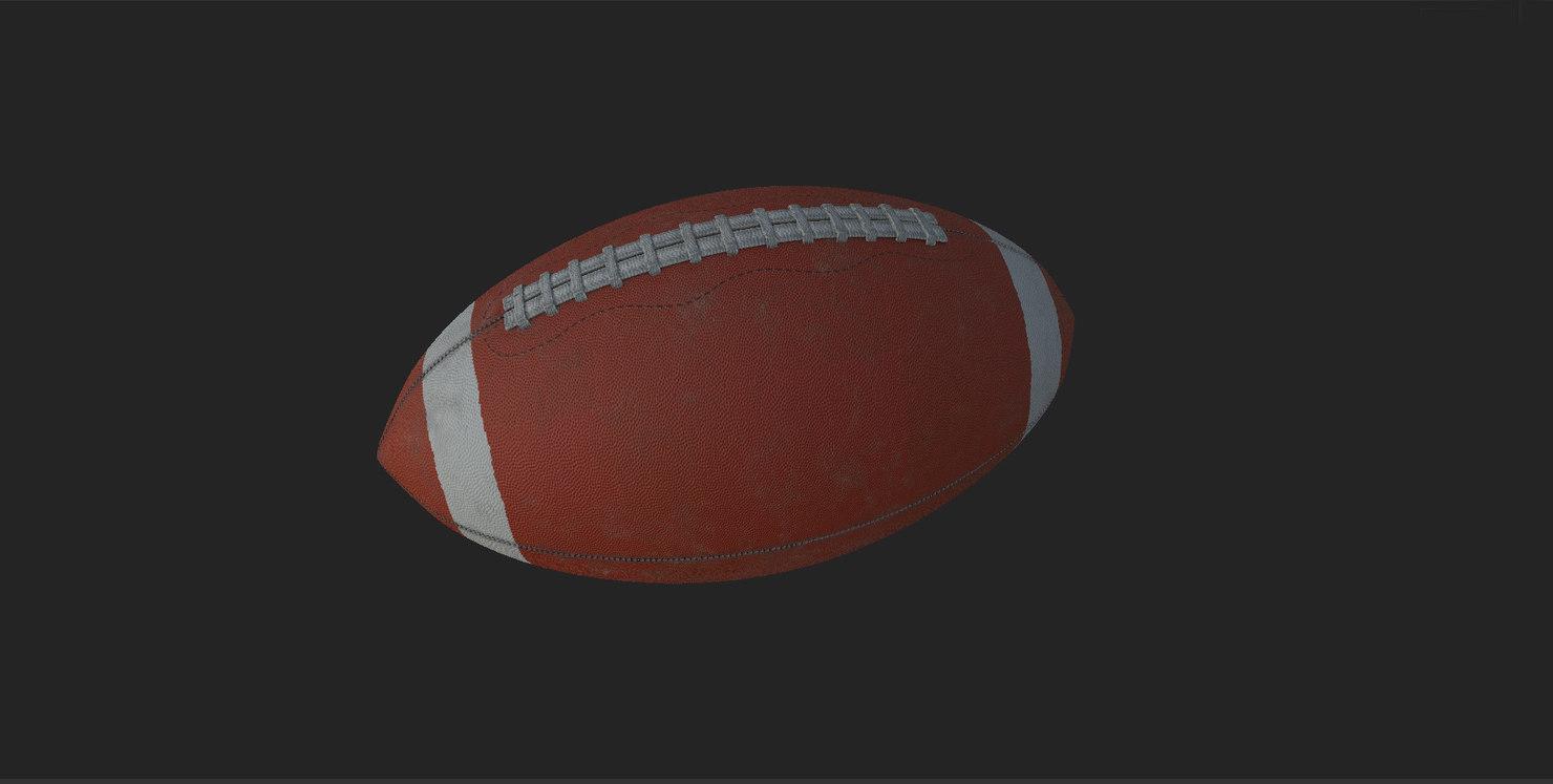 football american ball 3D model