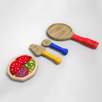 kids pizza toy kit 3D