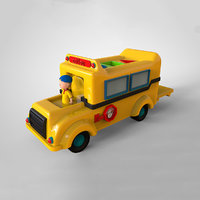 3D caillou children cartoon bus model