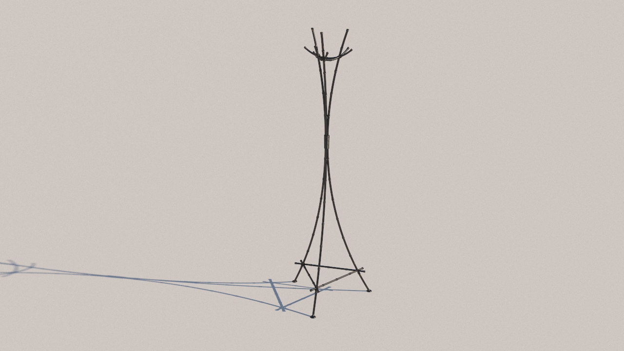 3D wrought iron hanger model