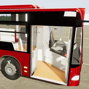 3D model medi bus interior exterior