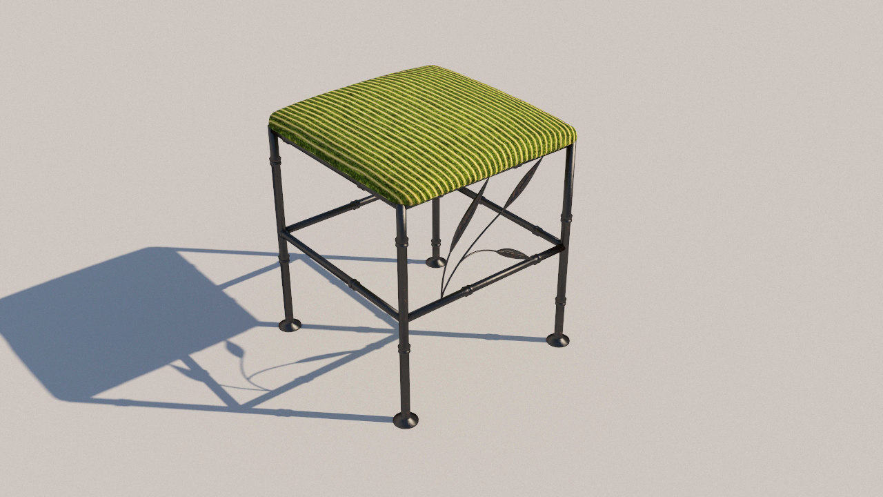 3D forged stool model