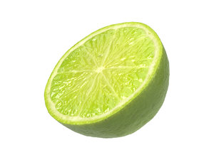 photorealistic scanned lime half 3D model