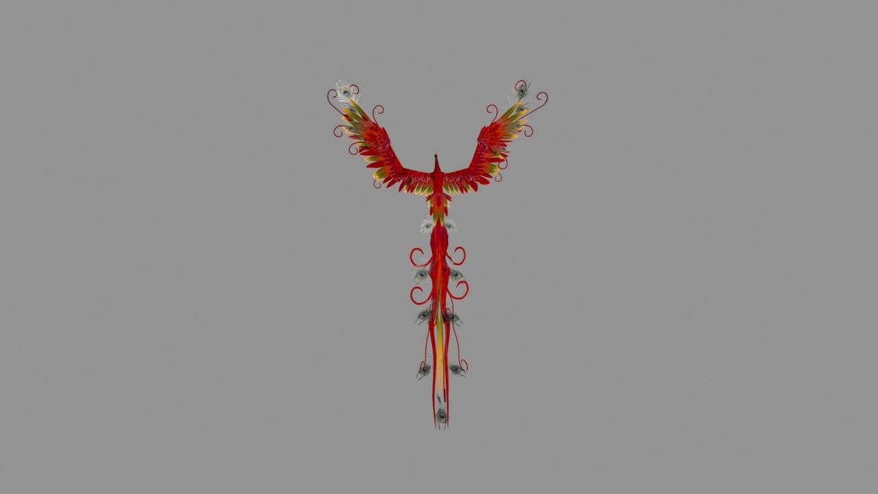 rigged phoenix 3D