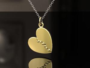 heart stitched 3D model