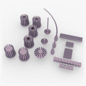 3D model greebles sci-fi machinery