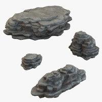 rock set 3D model