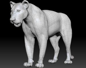 3D lion poses model