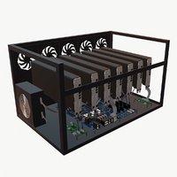 3D model mining farm