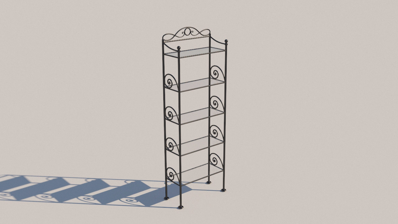 forged bookcase 3D