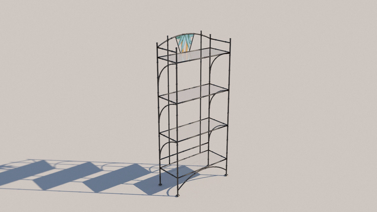 3D forged bookcase