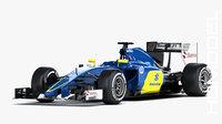 3D sauber c34 2015 formula car