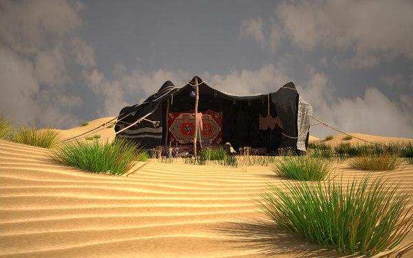 tent arab 3D model