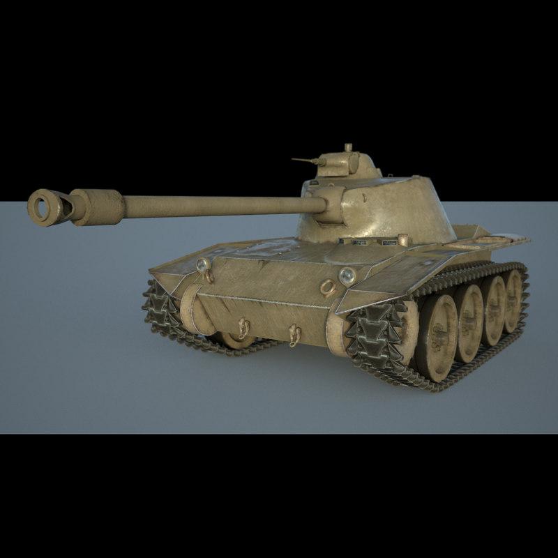 american light tank 3D model