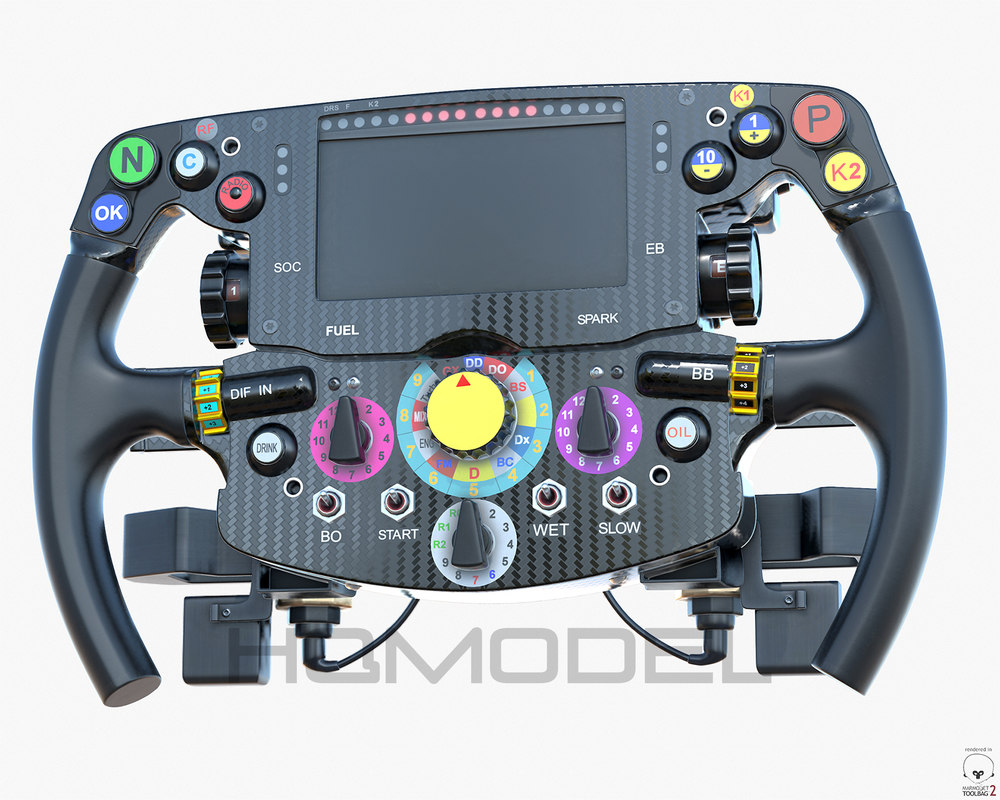 3D f1 steer wheel formula