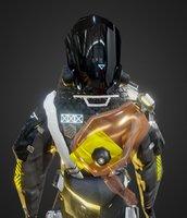 combat suit sci-fi 3D model
