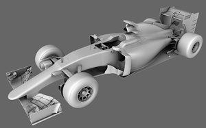 3D model standard formula car season