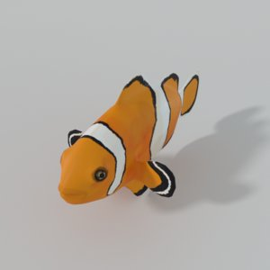 3D fish clown clownf