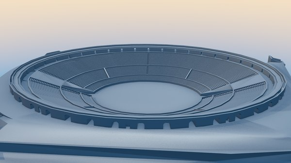 3D amphitheater pompeii model
