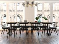 3D dining furniture set 0508