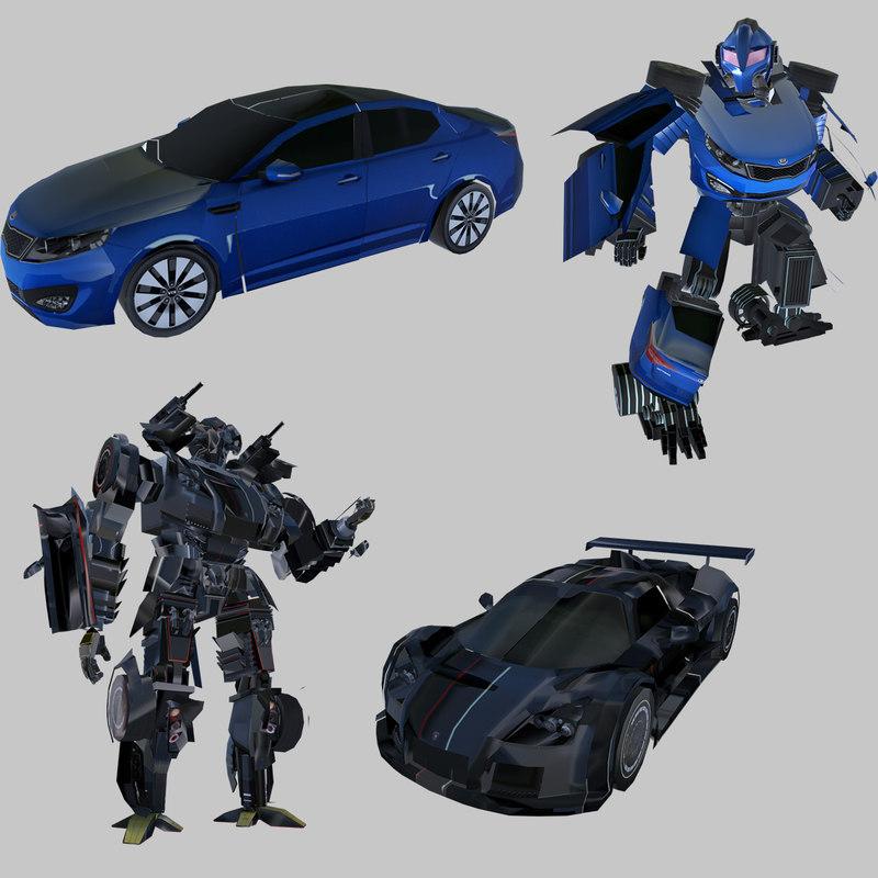car robot animation ar 3D model