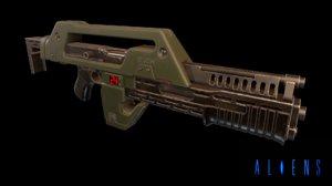m41a pulse rifle 3D model