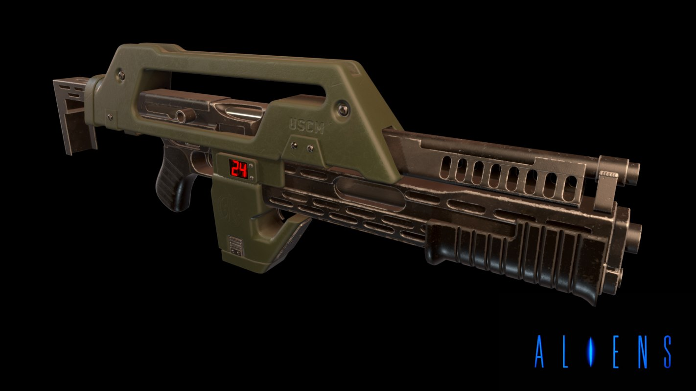 m41a pulse rifle 3D model