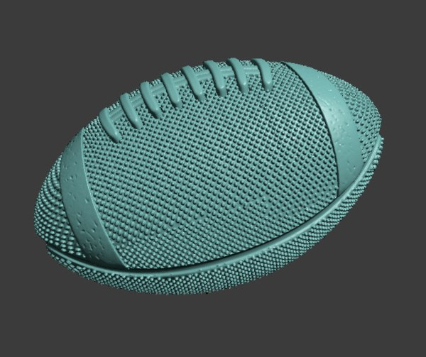 modeled rugby ball 3D