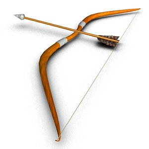 3D bow arrow model