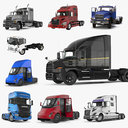 Rigged Trucks 3D Models Collection 3