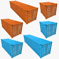 Container Low Poly (Azure & Orange) Collection