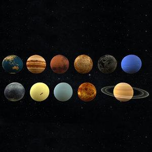 planet solar realistic vr 3D model