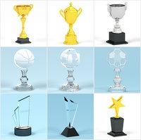 trophies set 3D