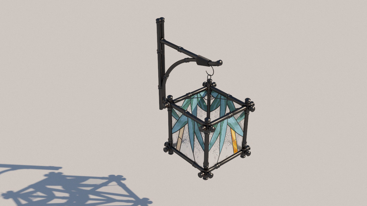 wall lamp forged sconces 3D model