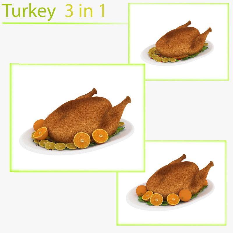 thanksgiving oranges lemons 3D model