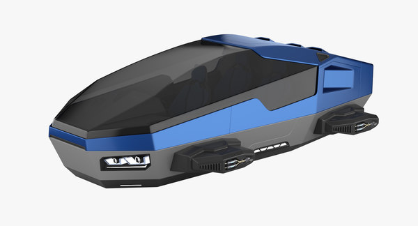 3D hover car concept 2 model