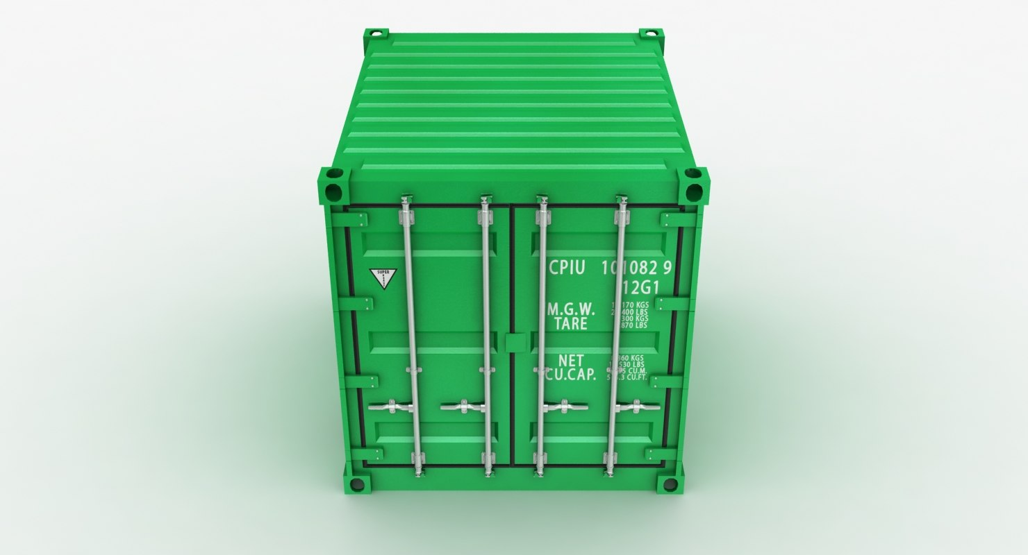 3D container green red