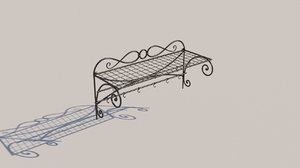 forged clothes hanger 3D model