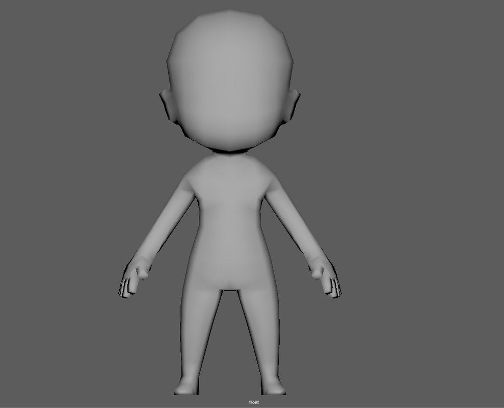 base chibi 3D model