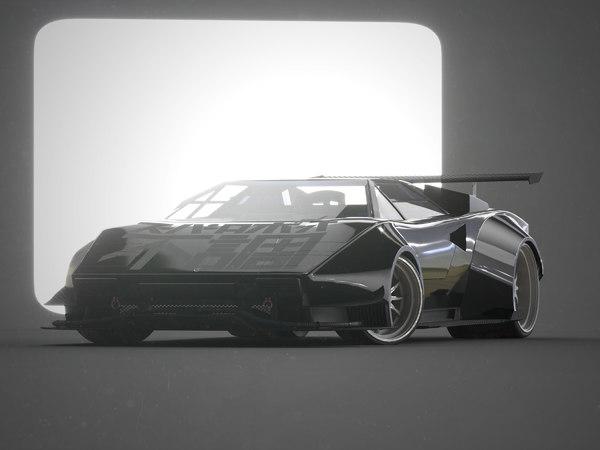 3D countach jet