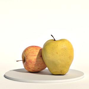 3D fruits food