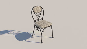 forged chair 3D