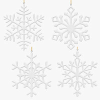 3D snowflakes set