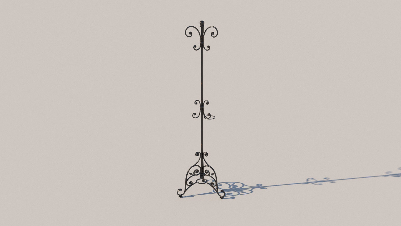 wrought iron hanger 3D model