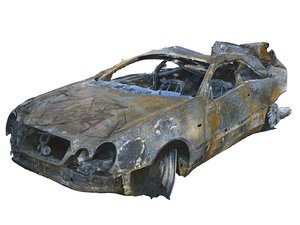 burned car hd 3D