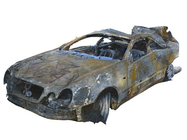 burned car hd 3D
