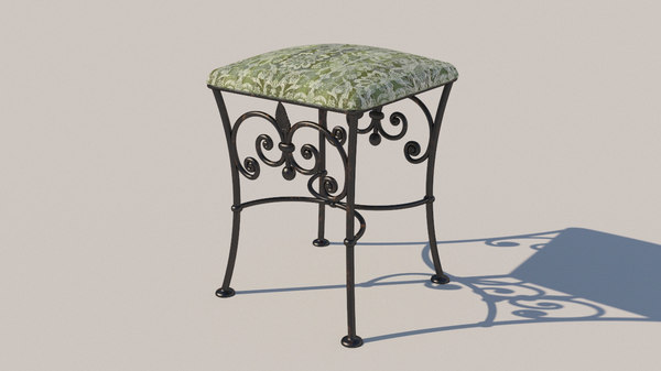 forged stool 3D model