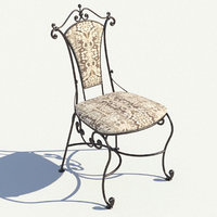 forged chair bronze 3D model