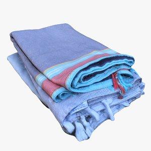 3D retopology pile towels