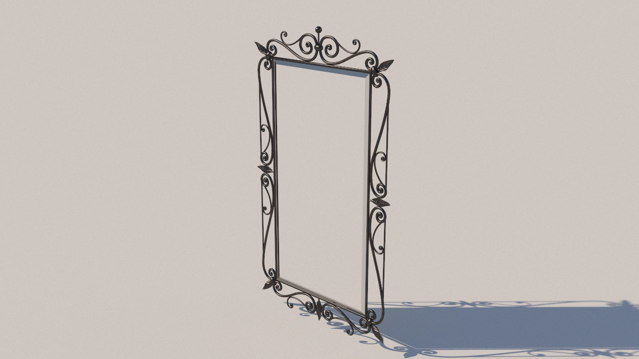forged mirror 3D model